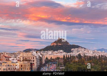 Mount Lycabettus in Athens, Greece - Stock Image