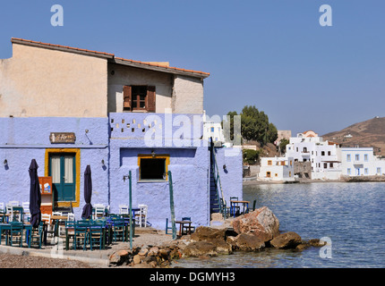 Il Forno restaurant in Agia Marina, Leros Island, Dodecanese, Greece - Stock Image