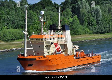 Danish multi-purpose vessel Gunnar Thorson - Stock Image