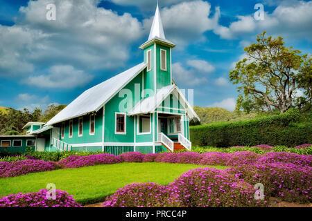 Keola Mauloa Church. Waimea, Hawaii, The Big Island - Stock Image
