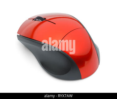 Backside of Computer Mouse Isolated on White. - Stock Image