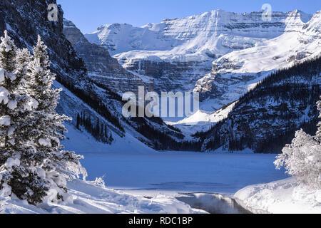Winter at Lake Louise, Banff Alberta Canada - Stock Image