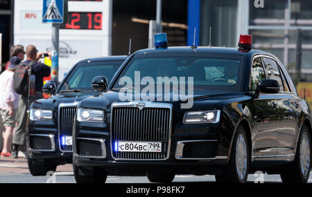 Helsinki, Finland. 16th July 2018. Limousine of the security for the Russian delegation Credit: Hannu Mononen/Alamy Live News - Stock Image