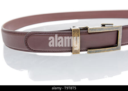 A belt witout belt holes and uses mico adjustable ratchet system to keep the buckle in place. - Stock Image