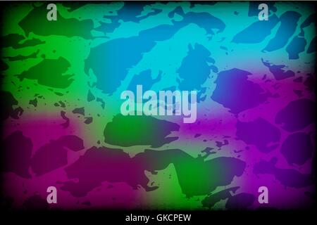 Vector colorful background with grungy texture overlay on top of - Stock Image