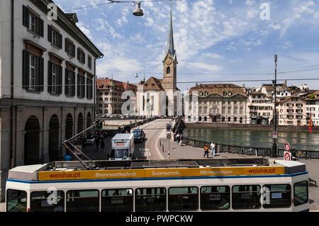 Switzerland, Zurich canton, city of Zurich, the old town - Stock Image