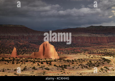 Cathedral Valley, Capitol Reef national park, Utah, USA - Stock Image