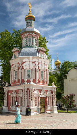 Chapel-over-the-Well at monastery of Sergiyev Posad, Russia - Stock Image