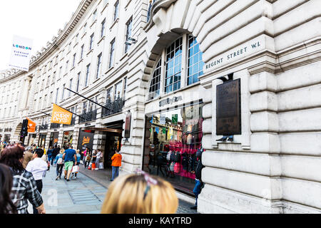 Regent Street London, Regent Street shops, Regent Street buildings, Regent Street London UK England, Regent Street, - Stock Image