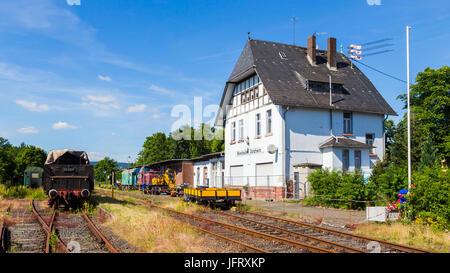 Railway Station in Wiesbaden-Dotzheim, Hesse, Germany. 18. June 2017. - Stock Image