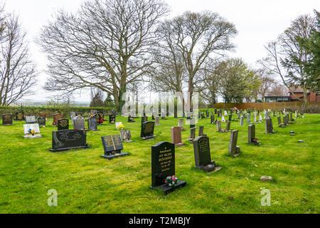 Graveyard,St Andrews Church,Burton upon Stathe,Scunthorpe,England - Stock Image