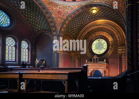 Spanish synagogue in Prague - Stock Image