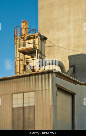 Equipment on a Building Roof - Stock Image