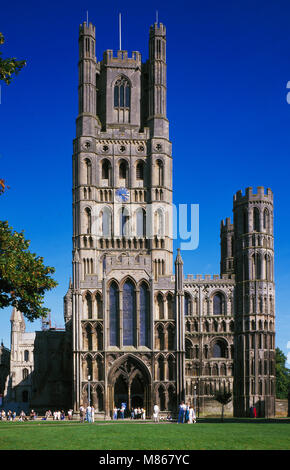 Ely Cathedral Cambridgeshire UK - Stock Image