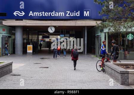 Amsterdam Zuid station in Amsterdam, Netherlands - Stock Image