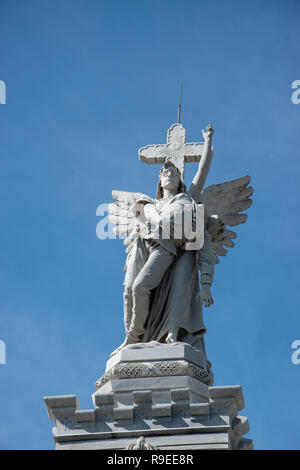 The Monumento a los Comberos (Firemen's Monument ) built by Agustin Querol and Julio M Zapata in El Cementario de Cristobal Colon (Colon Cemetary) was - Stock Image