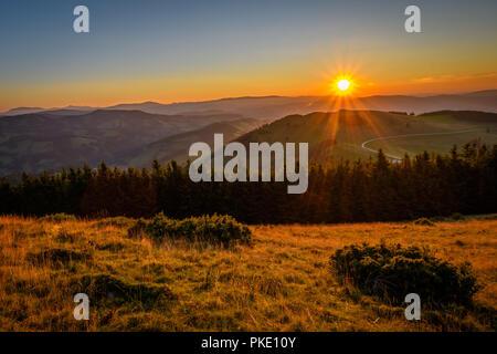 sunrise in the alps - Stock Image