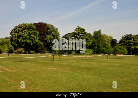 Lawn tennis courts, The University Parks, Oxford, Oxfordshire - Stock Image