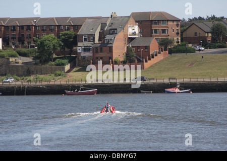 Boats on the River Wear,Sunderland - Stock Image