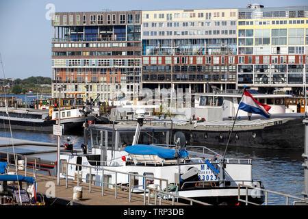 Amsterdam, Netherlands, Silodam, MVRDV Apartment Complex, Port, Houthavens Quarter, - Stock Image