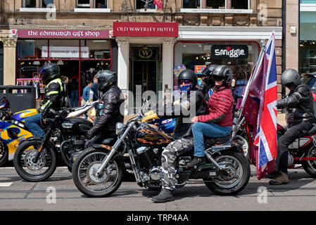 A show of support by bikers in Edinburgh for 'Soldier F'  who is currently facing charges from the Bloody Sunday shootings in Londonderry 1972. - Stock Image
