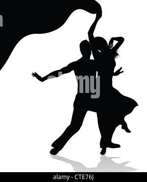 Dancing couple - Stock Image