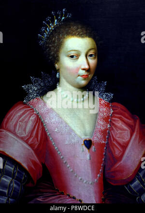 Henriette Balzac d'Entragues by French unknown painter 16th Century France ( Catherine Henriette de Balzac d'Entragues, Marquise de Verneuil (1579–1633) was the favourite mistress of Henry IV of France  ) - Stock Image