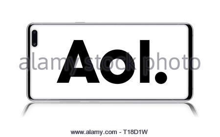 AOL logo - Stock Image