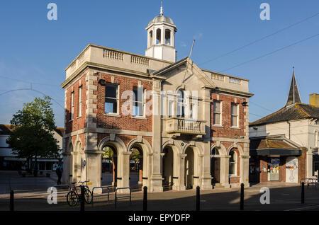 The Mayor's Parlour and Saxon Square Christchurch  Dorset England UK - Stock Image