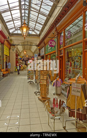INVERNESS CITY SCOTLAND CENTRAL CITY INTERIOR A HALLWAY OF THE VICTORIAN COVERED MARKET AND SHOPS - Stock Image