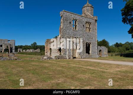 Baconsthorpe Castle ruins, Norfolk, UK. - Stock Image