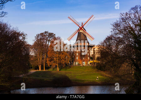 Mühle am Wall, Am Wall Windmill, Bremen, Germany, Europe - Stock Image