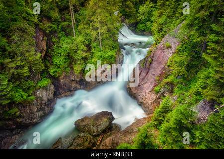 Mickiewicz Waterfalls - waterfalls in the High Tatras on the Roztoka stream, Lesser Poland - Stock Image