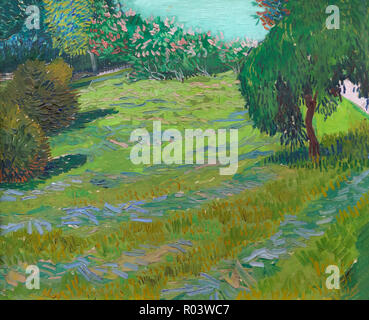 Garden with Weeping WIllow, Sunny Lawn in a Public Park, Arles, Vincent van Gogh, 1888, Zurich Kunsthaus, Zurich, Switzerland, Europe - Stock Image