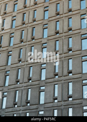 Windows on an office building in downtown Montreal - Stock Image