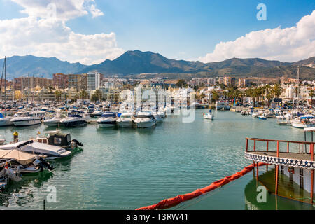 Benalmádena spain. Port, luxury Puerto Marina, Costa del Sol, Málaga province. Andalusia, Southern Spain, Europe. - Stock Image