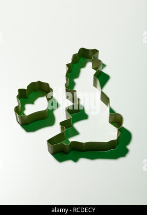 An outline of the British Isles and Ireland - Stock Image