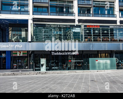 The Wine and Meat co, Southbank, Melbourne, Victoria, Australia - Stock Image