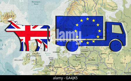 Brexit, Proposed referendum on United Kingdom membership in the European Union, the future England as an agricultural - Stock Image