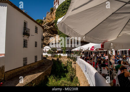 RONDA, ANDALUSIA / SPAIN - OCTOBER 08 2017: SMALL VILLAGE IN RONDA MOUNTAINS - Stock Image