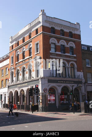 Hope and Anchor Pub Islington London - Stock Image