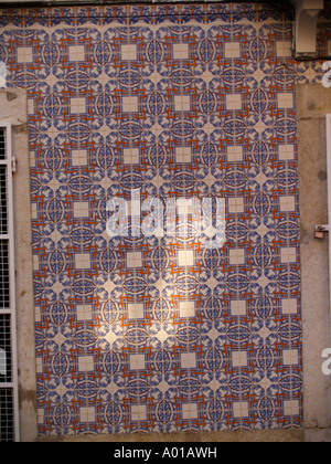 Lisbon tile work - Stock Image