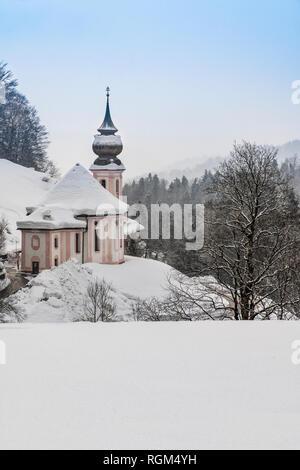 Maria Gern church, Berchtesgaden, Bavaria, Germany - Stock Image