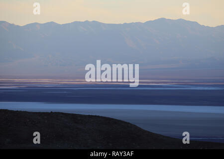 Sunset at Badwater, Death Valley, California, USA - Stock Image