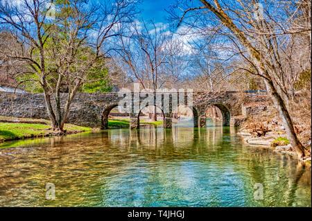 Glass Mill Bridge in Jessamine County Kentucky - Stock Image