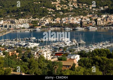 Mallorca, Puerto d'Andratx, overview - Stock Image