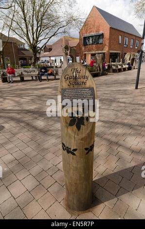 The Gateway Square Ringwood Hampshire - Stock Image