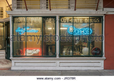 United States, Louisiana, New Orleans, French Quarter. Royal Pharmacy. - Stock Image