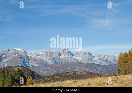 View From Monte Palon Towards The Brentago Mountain - Stock Image