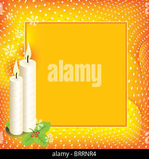 Christmas background with candles - Stock Image